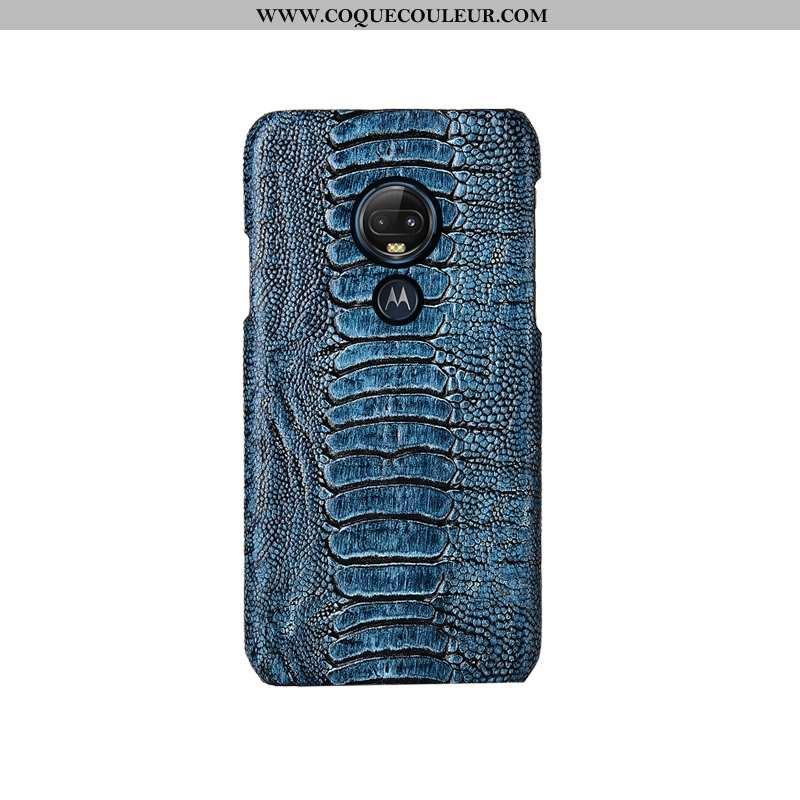Housse Moto G7 Plus Luxe Oiseau Protection, Étui Moto G7 Plus Personnalité Incassable Bleu