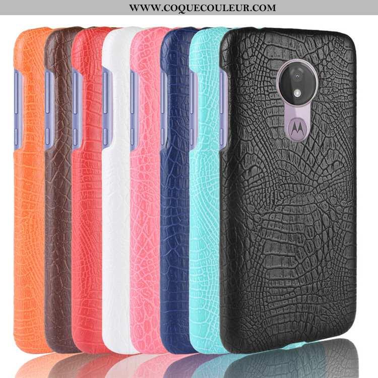 Housse Moto G7 Power Créatif Téléphone Portable Coque, Étui Moto G7 Power Modèle Fleurie Noir