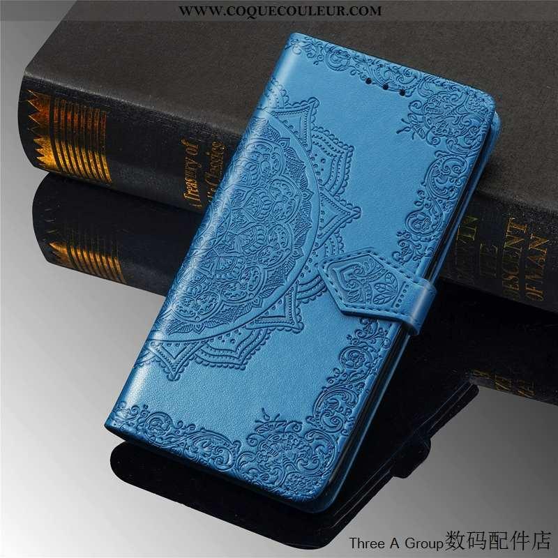 Étui Moto G7 Power Fluide Doux Bleu Téléphone Portable, Coque Moto G7 Power Silicone Protection