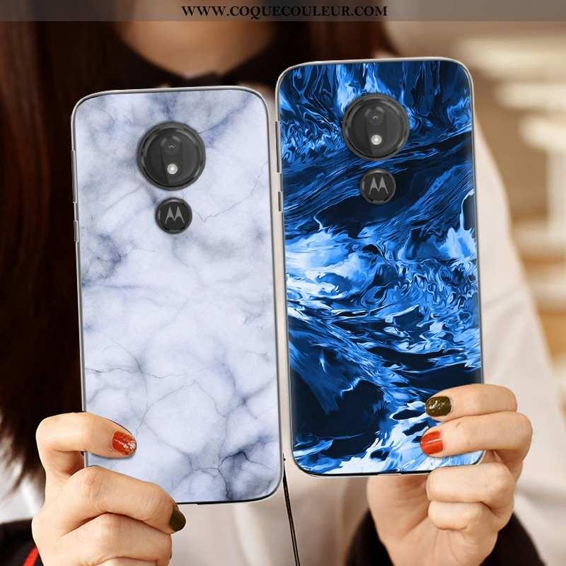 Étui Moto G7 Power Créatif Europe Étui, Coque Moto G7 Power Tendance Téléphone Portable Bleu