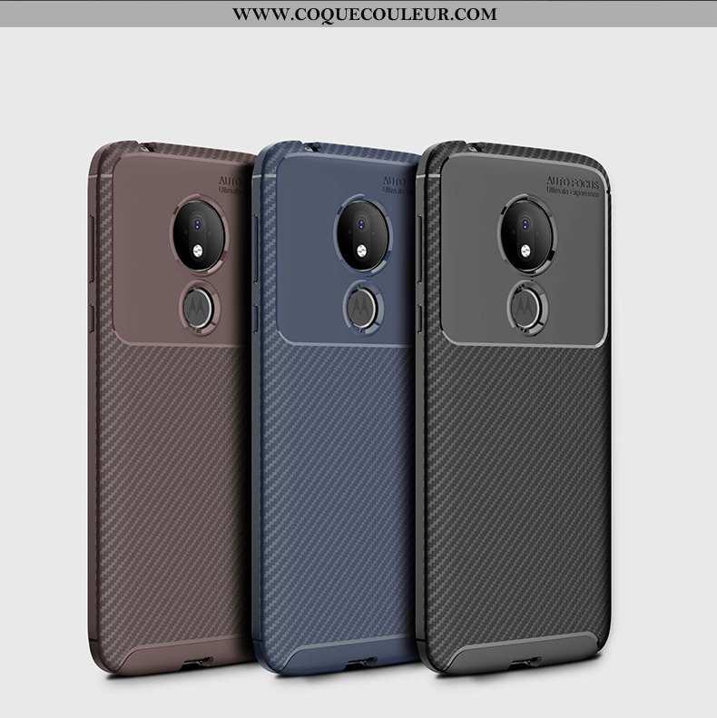 Coque Moto G7 Power Fluide Doux Étui Coque, Housse Moto G7 Power Silicone Téléphone Portable Noir