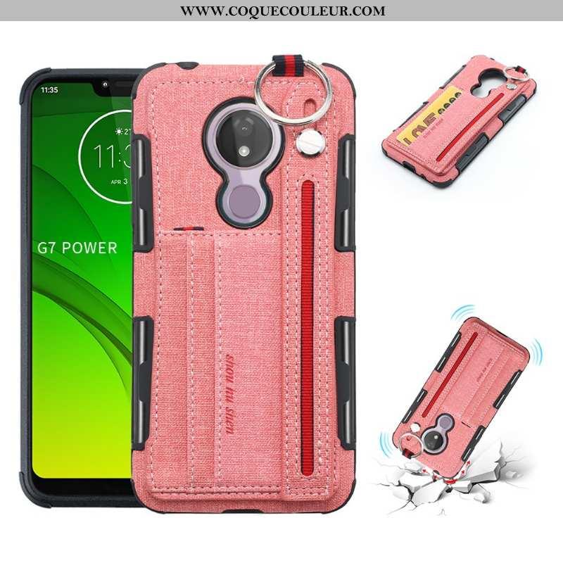 Étui Moto G7 Power Protection Téléphone Portable Coque, Coque Moto G7 Power Rose