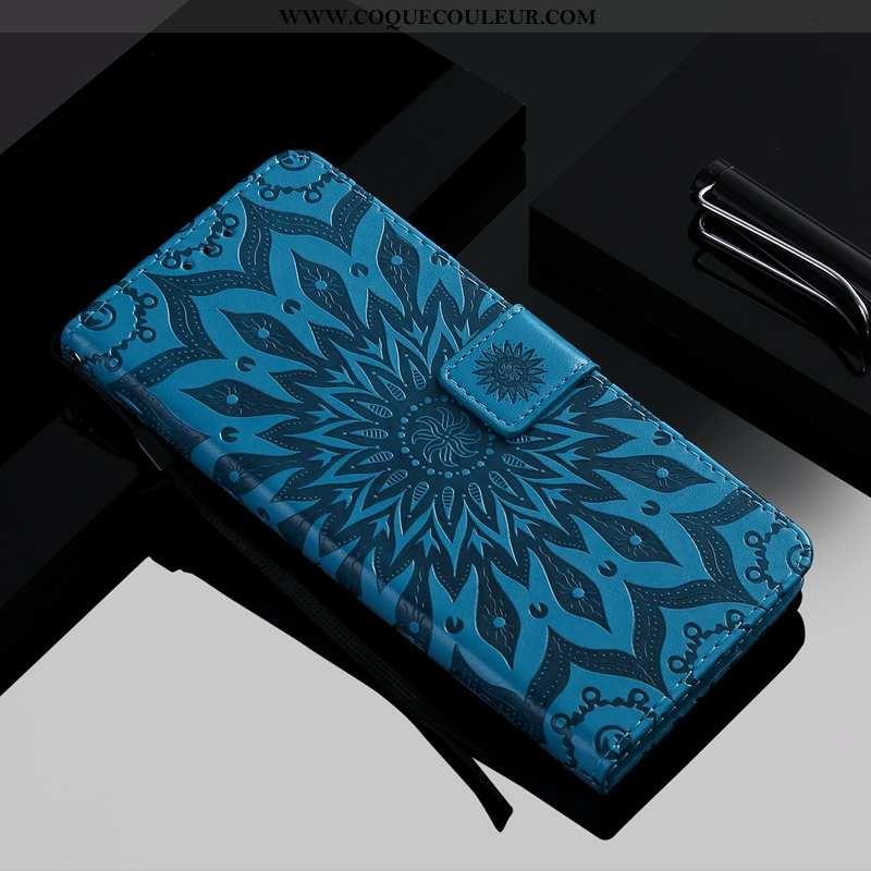 Coque Moto G8 Plus Protection Simple Téléphone Portable, Housse Moto G8 Plus Fluide Doux Bleu Foncé
