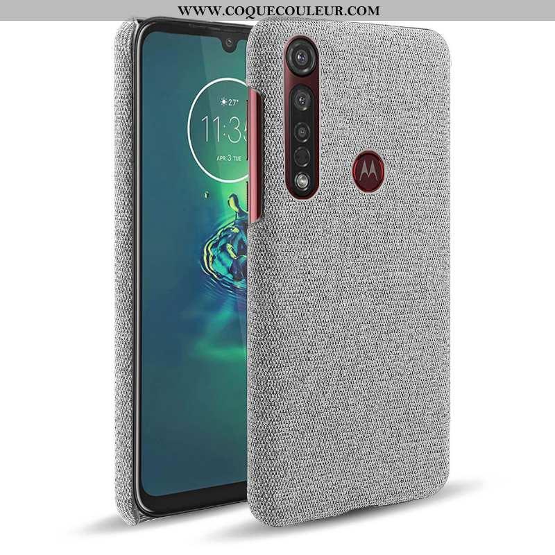 Coque Moto G8 Plus Protection Téléphone Portable Gris, Housse Moto G8 Plus Étui Gris