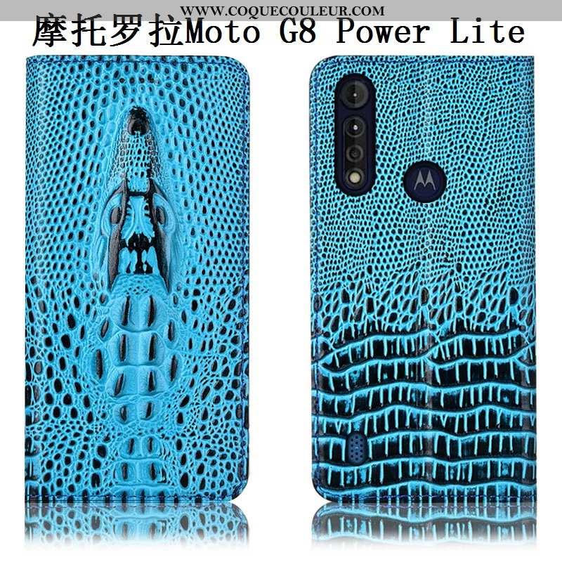 Coque Moto G8 Power Lite Protection Téléphone Portable Incassable, Housse Moto G8 Power Lite Cuir Vé