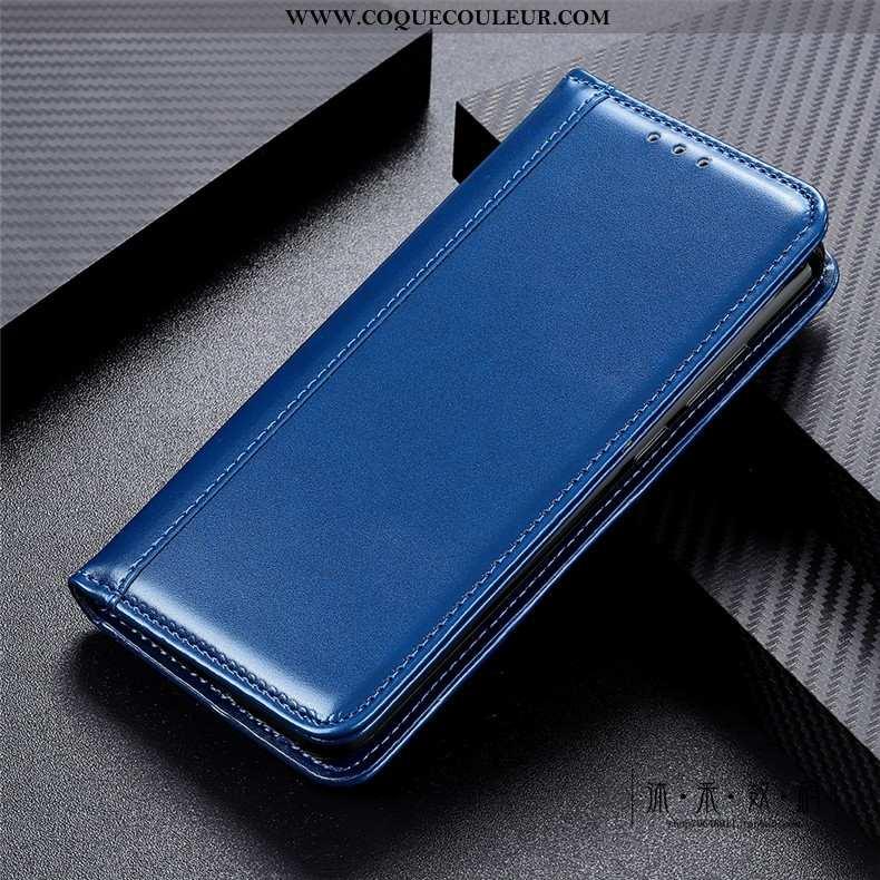 Coque Moto G8 Power Lite Protection Étui Téléphone Portable, Housse Moto G8 Power Lite Cuir Véritabl