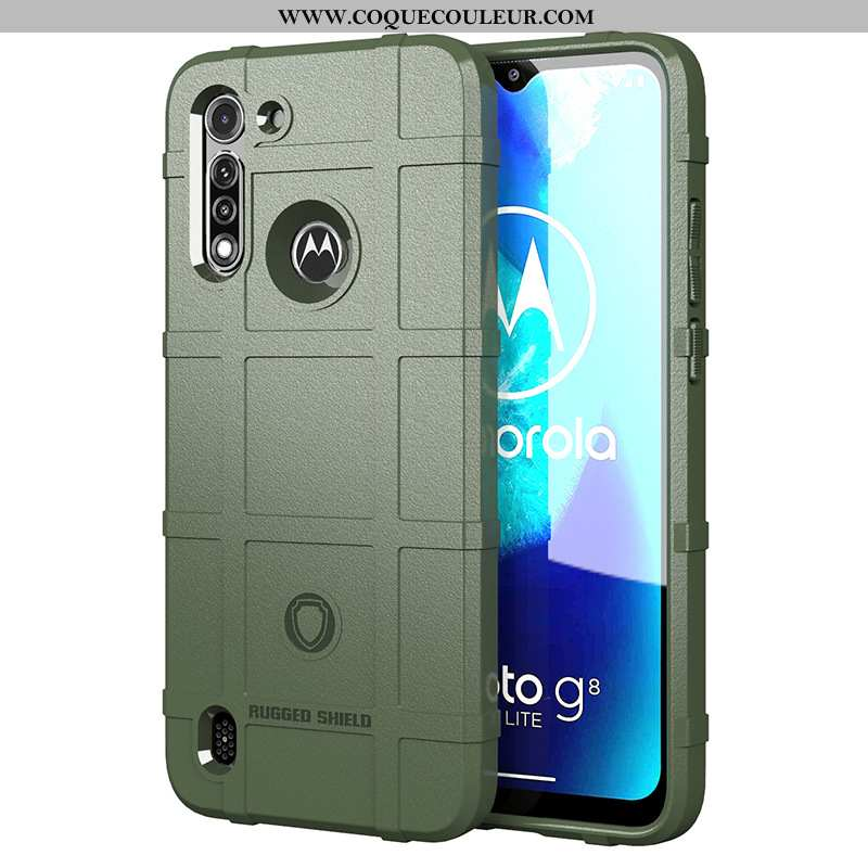 Housse Moto G8 Power Lite Protection Incassable Téléphone Portable, Étui Moto G8 Power Lite Silicone