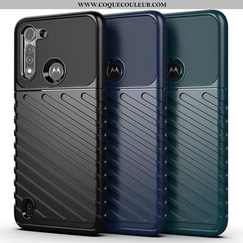 Housse Moto G8 Power Lite Protection Coque Noir, Étui Moto G8 Power Lite Incassable Noir