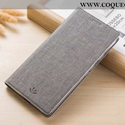 Étui Moto G8 Power Cuir Tissu Téléphone Portable, Coque Moto G8 Power Modèle Fleurie Gris