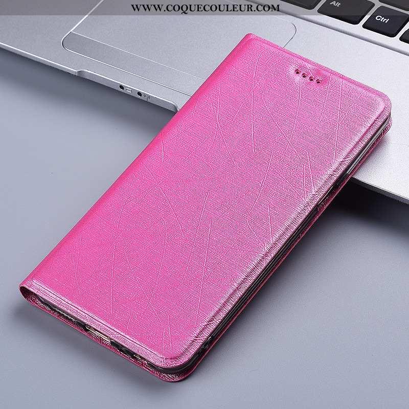 Coque Moto G8 Power Protection Téléphone Portable Soie, Housse Moto G8 Power Cuir Tout Compris Rose