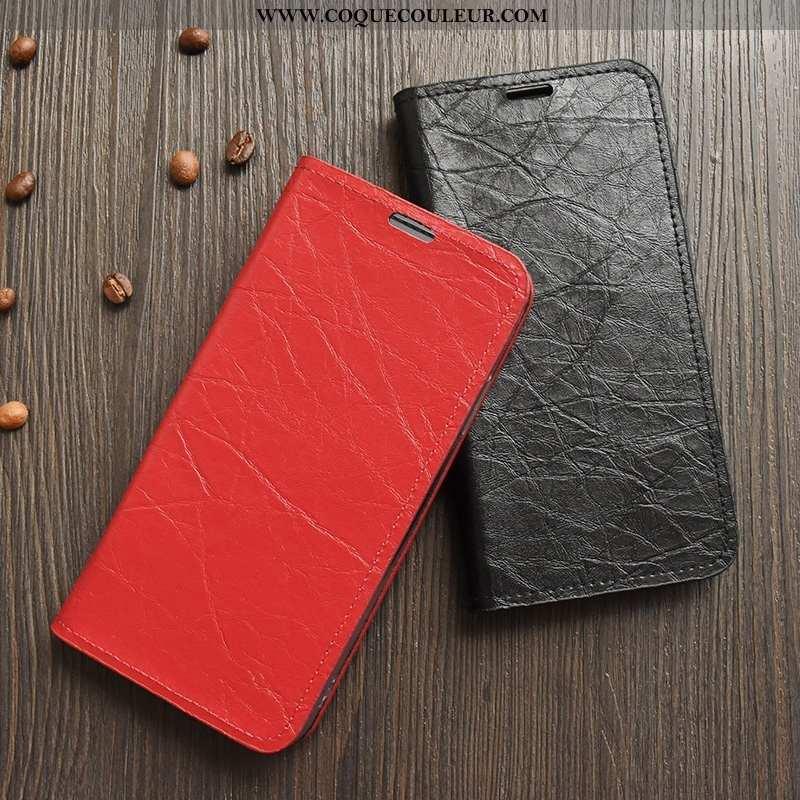 Coque Motorola Edge Légère Jours Coque, Housse Motorola Edge Cuir Rouge