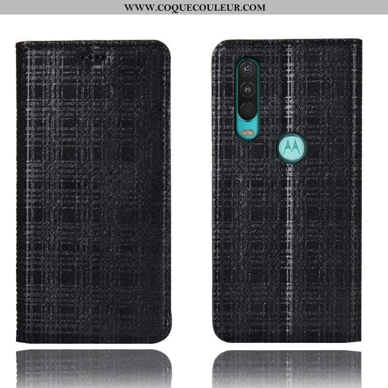 Coque Motorola One Action Cuir Véritable Tout Compris Coque, Housse Motorola One Action Protection V