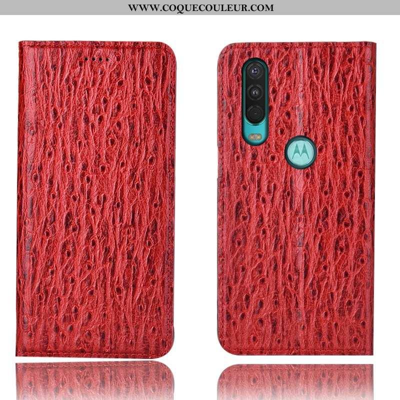 Coque Motorola One Action Protection Téléphone Portable Oiseau, Housse Motorola One Action Cuir Véri