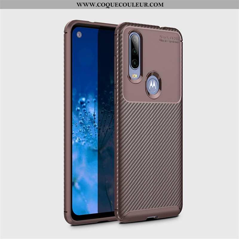 Étui Motorola One Action Modèle Fleurie Business Protection, Coque Motorola One Action Fluide Doux T