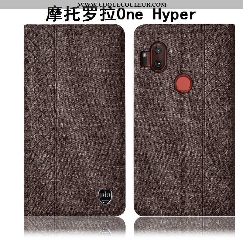 Coque Motorola One Hyper Cuir Incassable Téléphone Portable, Housse Motorola One Hyper Protection Ét