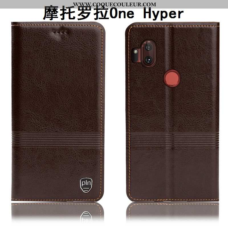 Housse Motorola One Hyper Protection Incassable Étui, Étui Motorola One Hyper Cuir Véritable Coque M