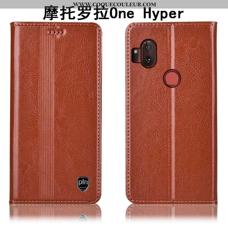 Étui Motorola One Hyper Cuir Véritable Incassable Coque, Coque Motorola One Hyper Protection Housse