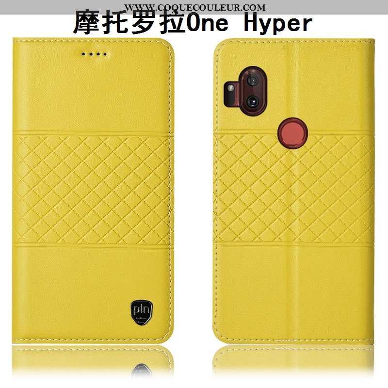 Étui Motorola One Hyper Cuir Véritable Téléphone Portable Coque, Coque Motorola One Hyper Protection