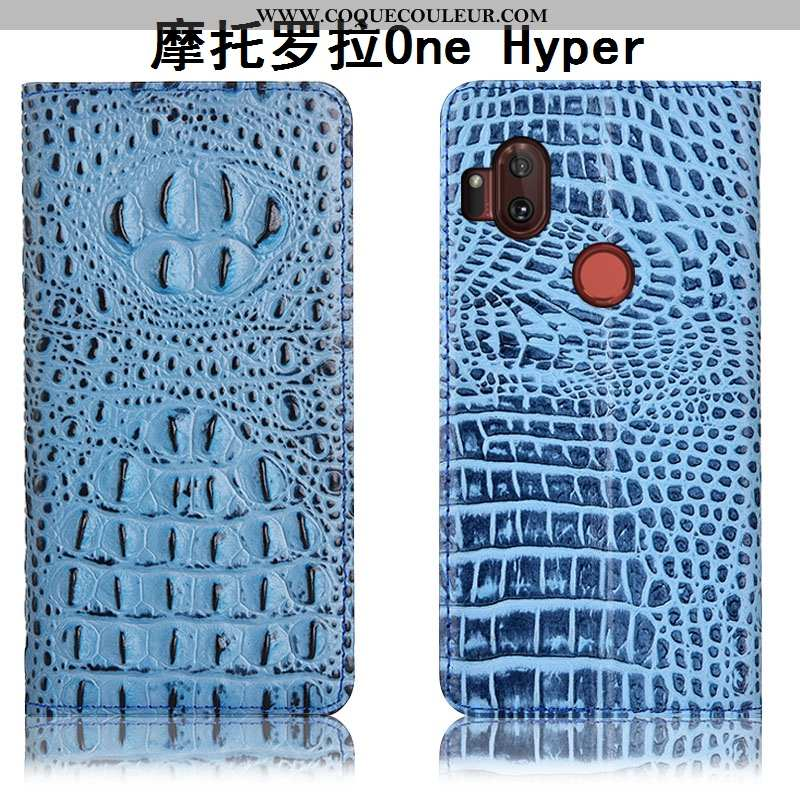 Housse Motorola One Hyper Protection Téléphone Portable Coque, Étui Motorola One Hyper Cuir Véritabl