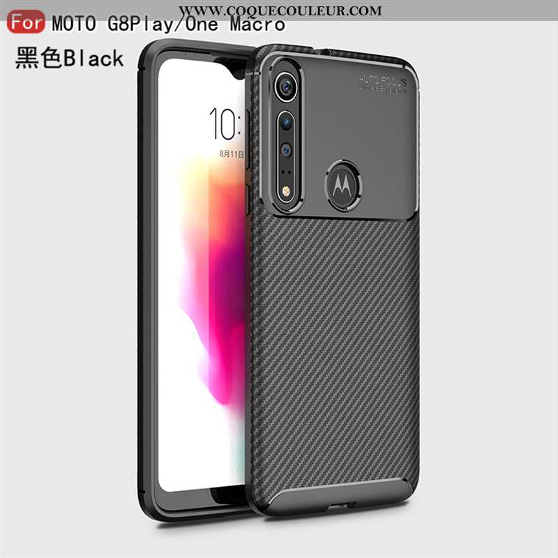 Étui Motorola One Macro Cuir 2020 Fluide Doux, Coque Motorola One Macro Modèle Fleurie Étoile Noir