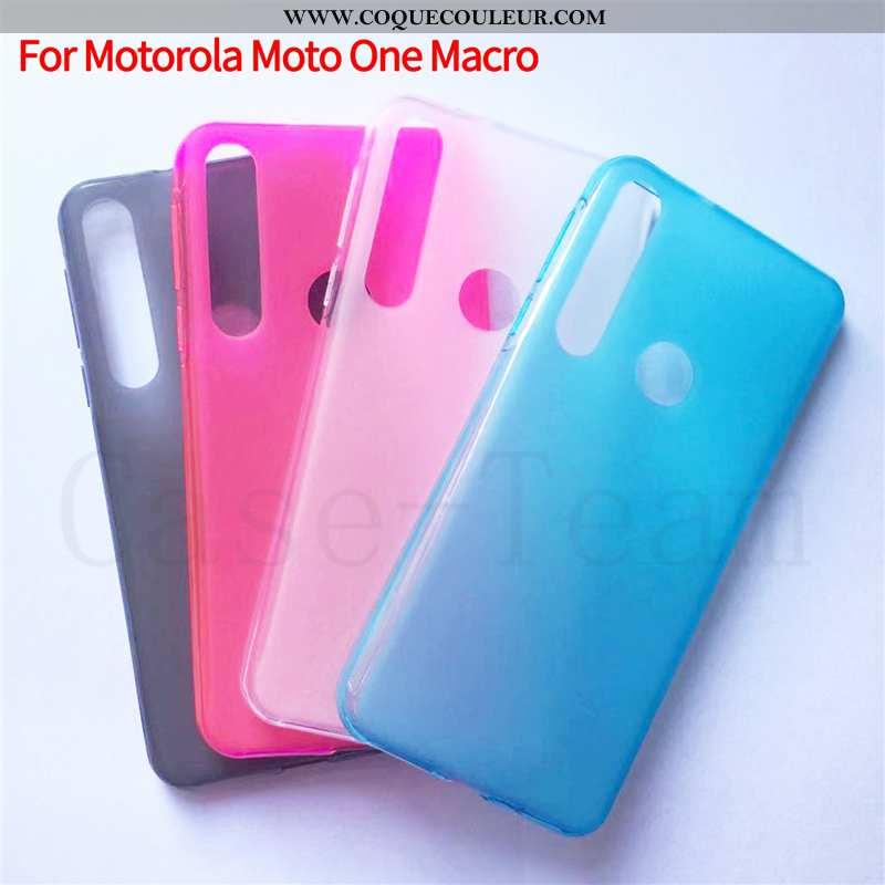 Étui Motorola One Macro Protection Tissu Étui, Coque Motorola One Macro Téléphone Portable Bleu