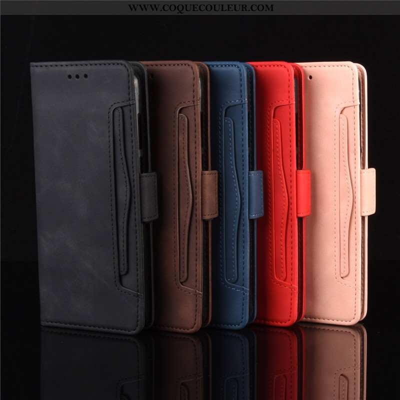 Housse Motorola One Macro Protection Noir Téléphone Portable, Étui Motorola One Macro Cuir