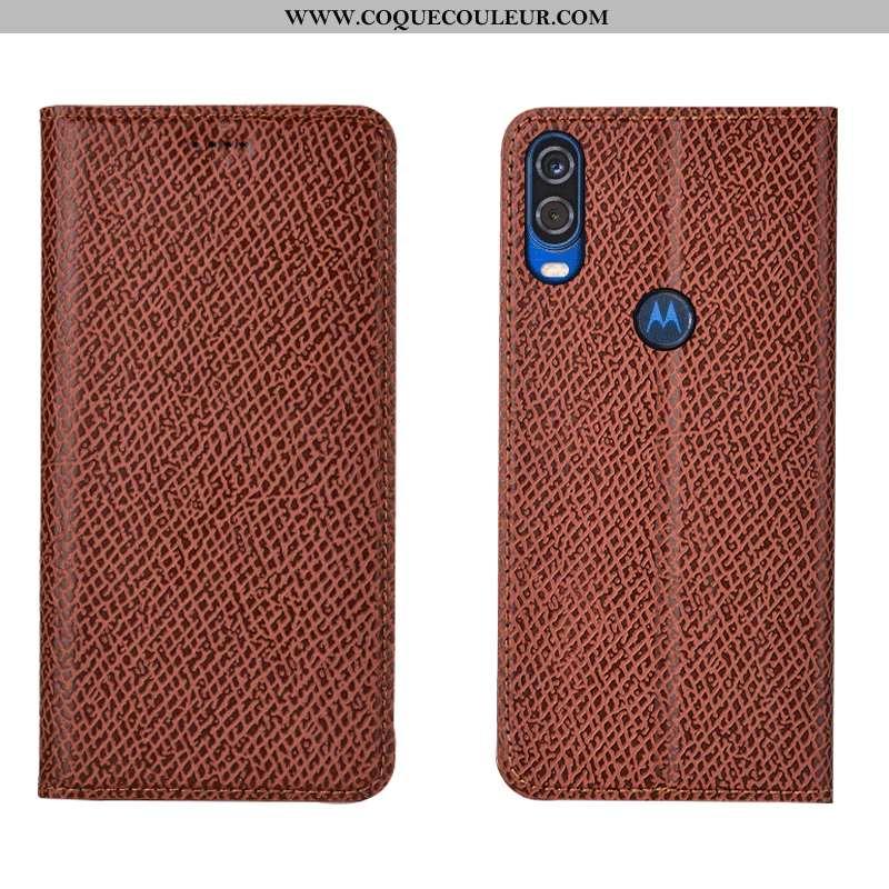 Étui Motorola One Vision Modèle Fleurie Orange Housse, Coque Motorola One Vision Protection Mesh