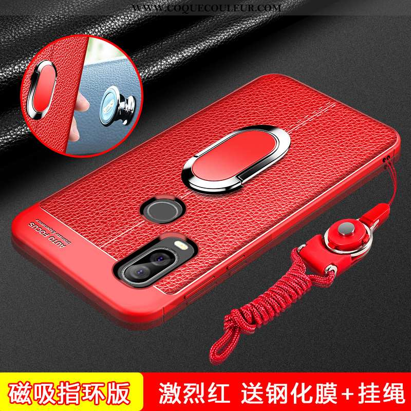 Étui Motorola One Vision Silicone Rouge Téléphone Portable, Coque Motorola One Vision Protection