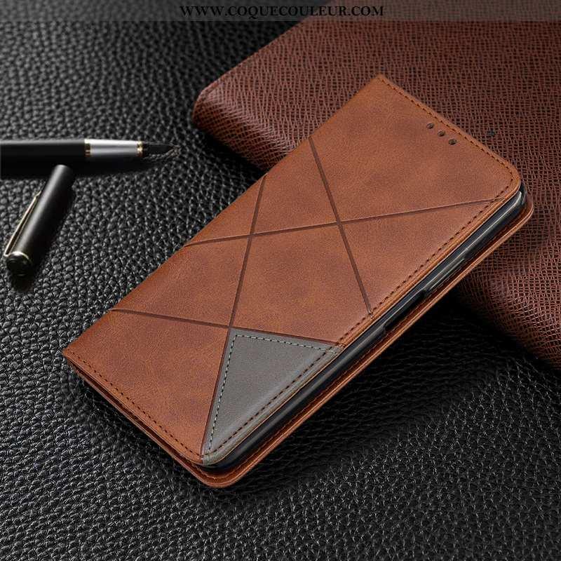 Coque Motorola One Zoom Cuir Housse Étui, Motorola One Zoom Protection Marron