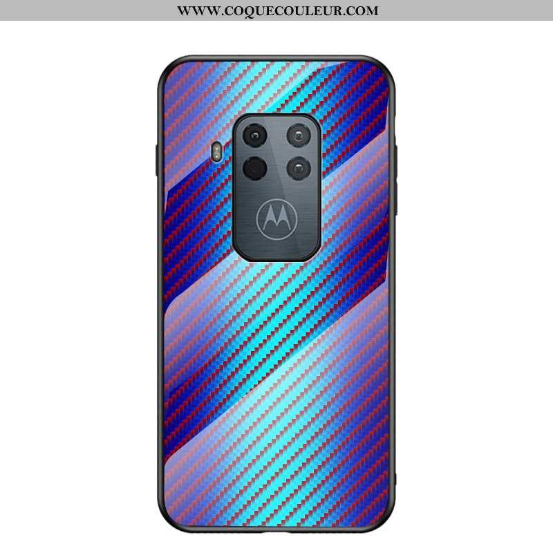 Coque Motorola One Zoom Protection Téléphone Portable Luxe, Housse Motorola One Zoom Verre Net Rouge