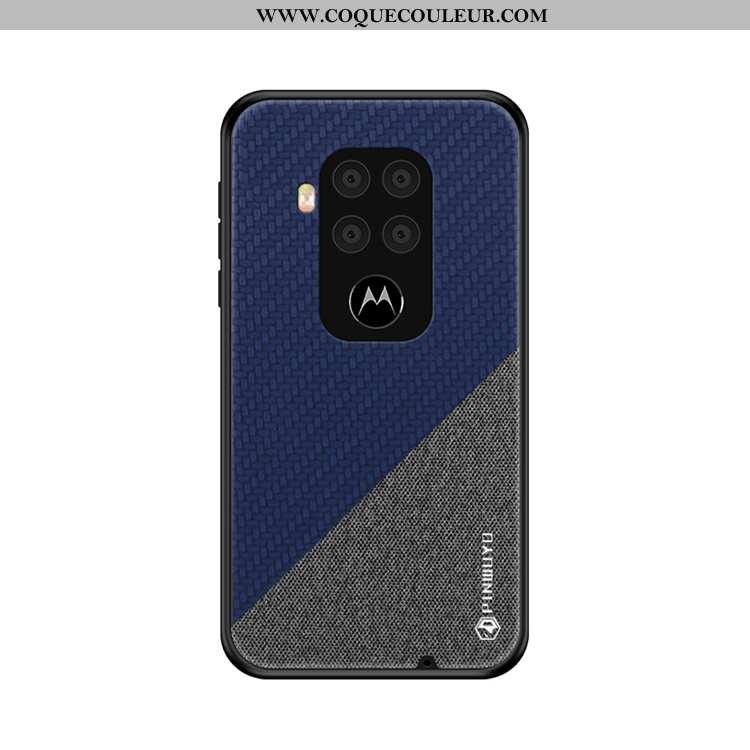 Housse Motorola One Zoom Ultra Bleu Marin Coque, Étui Motorola One Zoom Légère Toile Bleu Foncé