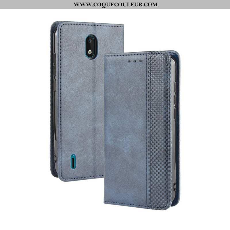 Housse Nokia 1.3 Cuir Portefeuille Bleu, Étui Nokia 1.3 Protection Téléphone Portable Bleu