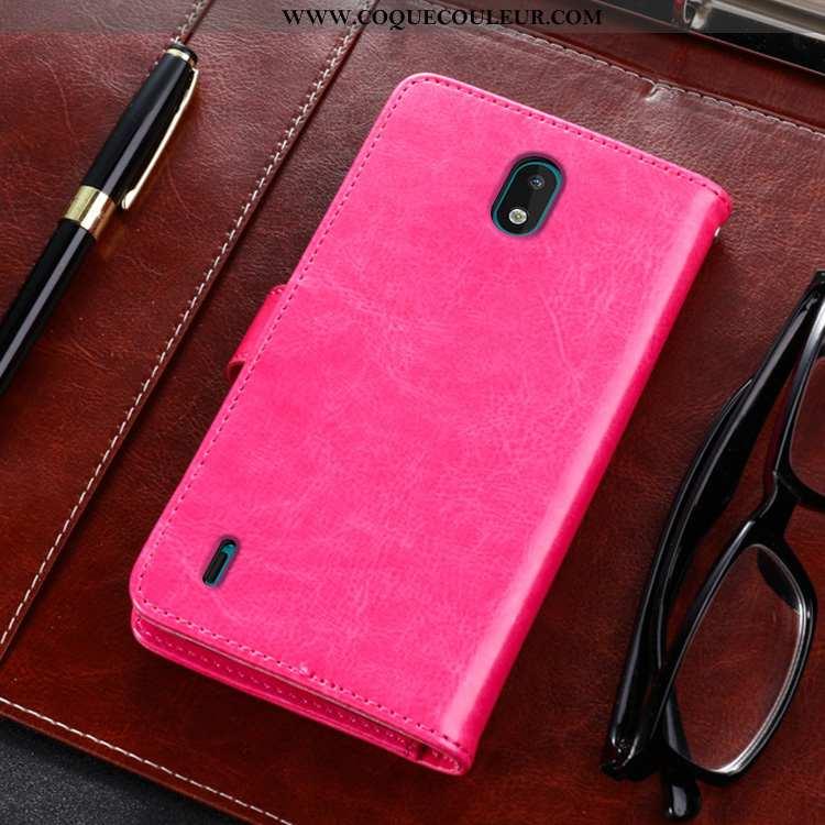 Étui Nokia 1.3 Cuir Téléphone Portable Étui, Coque Nokia 1.3 Protection Incassable Rose