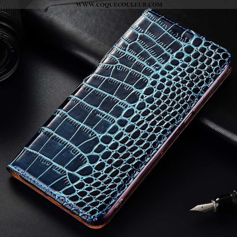Étui Nokia 1 Plus Protection Incassable Téléphone Portable, Coque Nokia 1 Plus Cuir Véritable Bleu