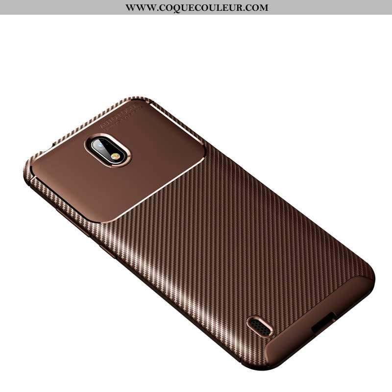 Étui Nokia 1 Plus Modèle Fleurie Fibre Téléphone Portable, Coque Nokia 1 Plus Fluide Doux Marron