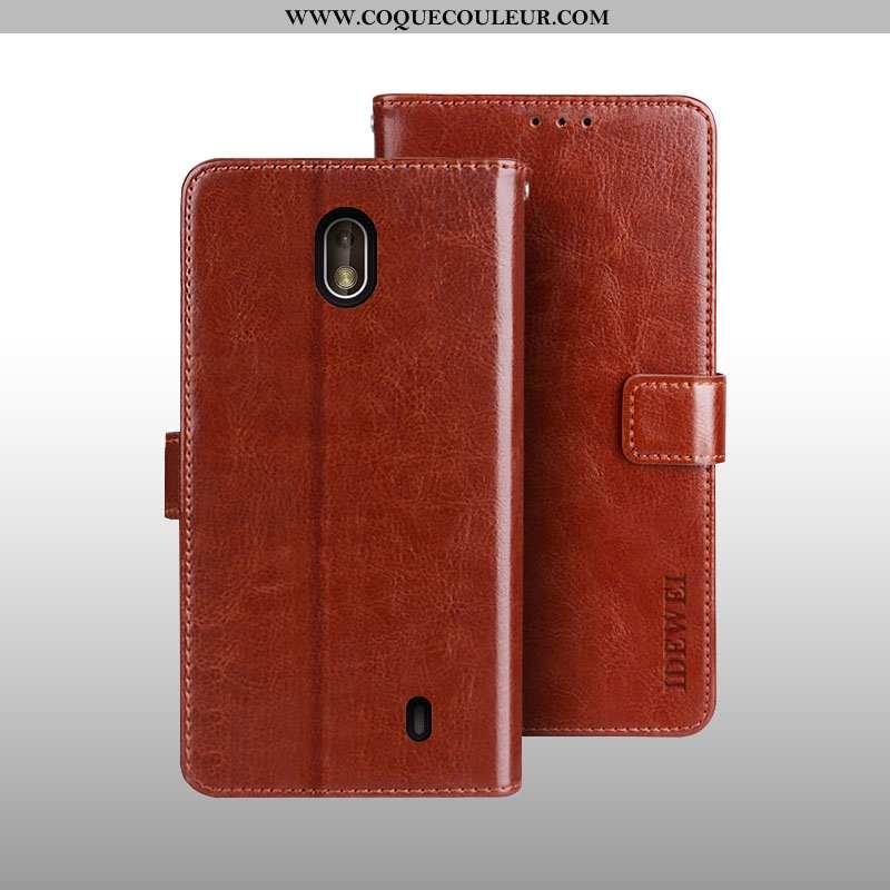Étui Nokia 1 Plus Portefeuille Housse Carte, Coque Nokia 1 Plus Cuir Protection Marron