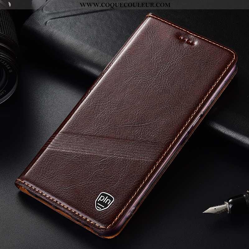Étui Nokia 1 Plus Cuir Véritable Housse Téléphone Portable, Coque Nokia 1 Plus Protection Marron