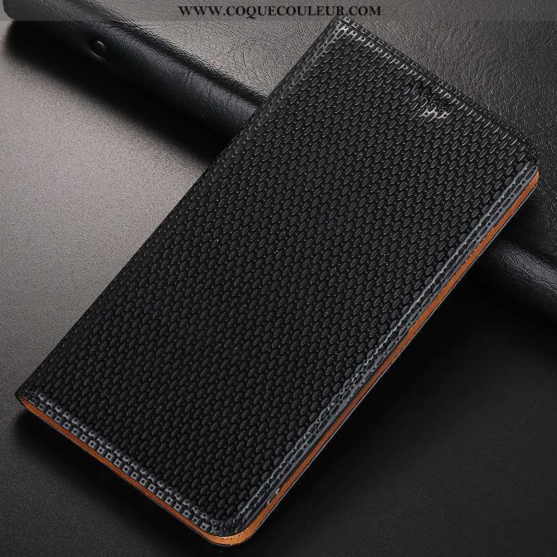 Housse Nokia 1 Plus Cuir Véritable Noir Modèle Fleurie, Étui Nokia 1 Plus Cuir Jours