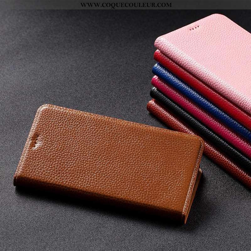 Housse Nokia 1 Plus Protection Étui Housse, Nokia 1 Plus Cuir Véritable Téléphone Portable Marron