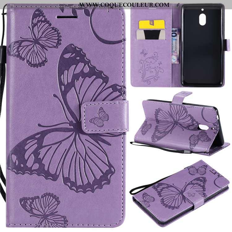 Coque Nokia 2.1 Fluide Doux Étui Téléphone Portable, Housse Nokia 2.1 Silicone Clamshell Violet