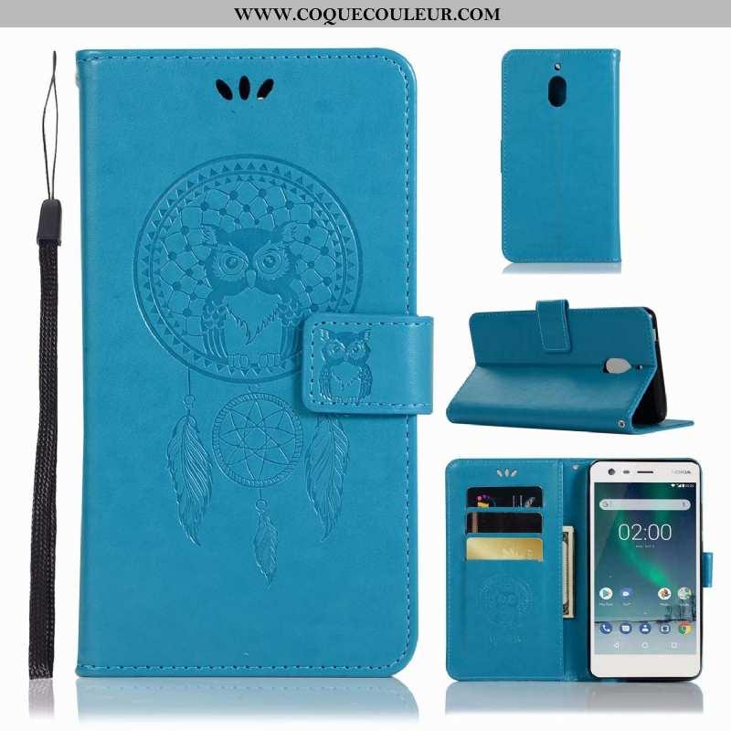 Coque Nokia 2.1 Tendance Bleu Incassable, Housse Nokia 2.1 Cuir