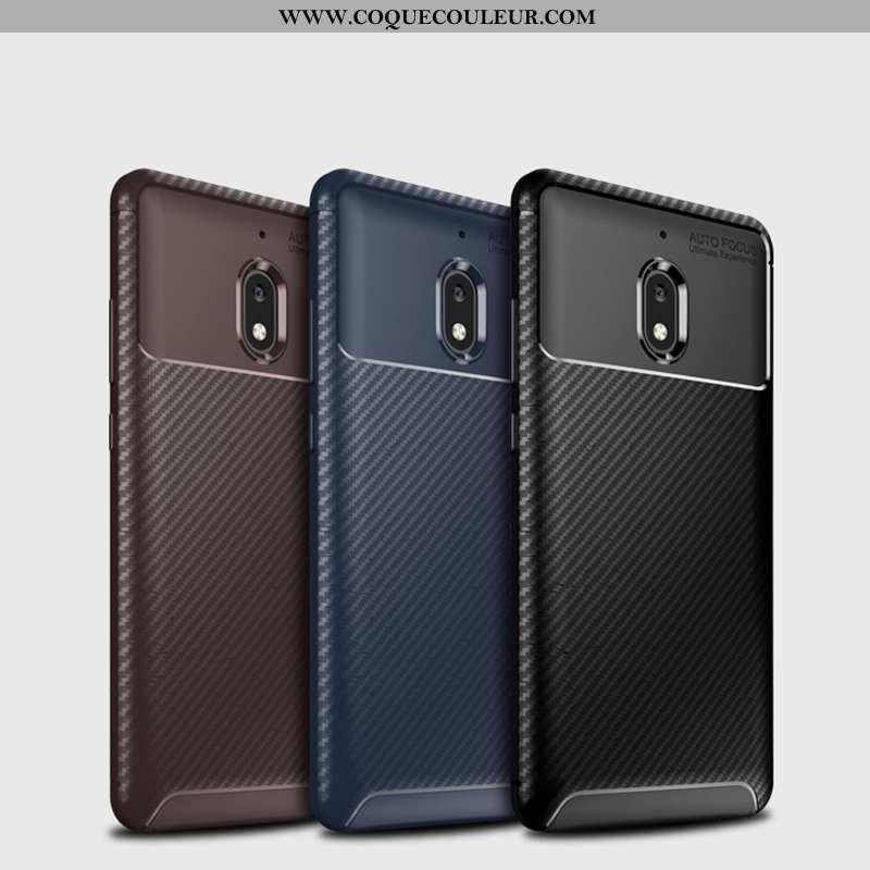 Étui Nokia 2.1 Légère Incassable Téléphone Portable, Coque Nokia 2.1 Fluide Doux Fibre Noir