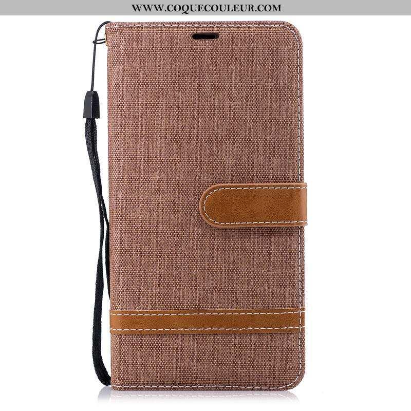 Étui Nokia 2.1 Cuir Tissu Téléphone Portable, Coque Nokia 2.1 Modèle Fleurie Marron