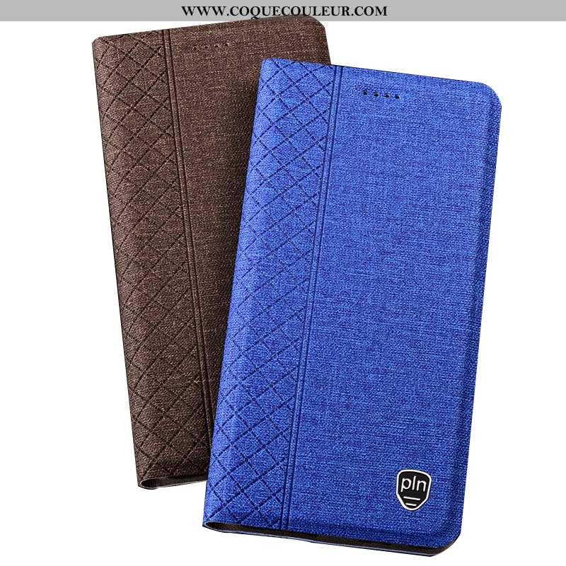 Housse Nokia 2.1 Protection Étui Téléphone Portable, Nokia 2.1 Lin Bleu Marin Bleu Foncé