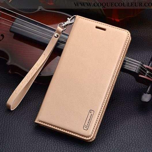 Coque Nokia 2.1 Cuir Véritable Téléphone Portable Étui, Housse Nokia 2.1 Cuir Protection Doré