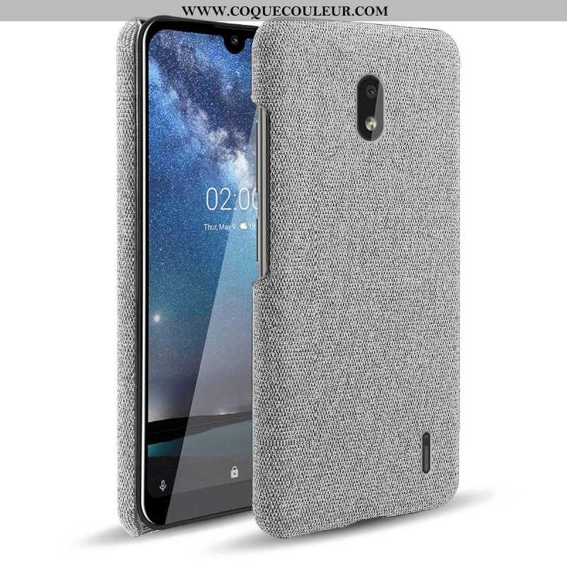 Coque Nokia 2.2 Protection Tissu Difficile, Housse Nokia 2.2 Créatif Étui Gris