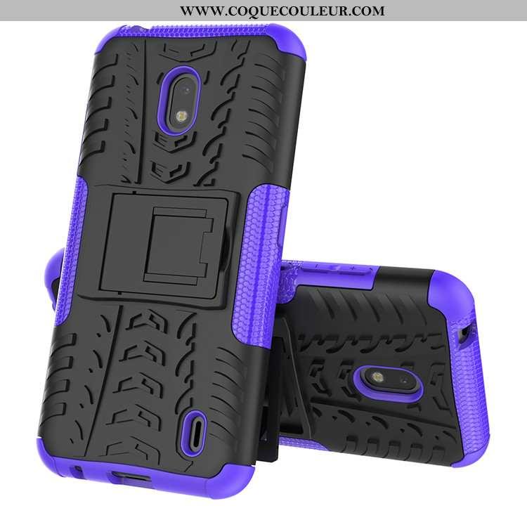 Coque Nokia 2.2 Protection Téléphone Portable Bordure, Housse Nokia 2.2 Silicone Étui Violet