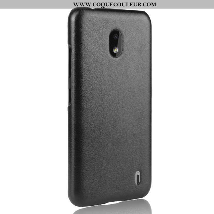 Coque Nokia 2.2 Tendance Téléphone Portable Étui, Housse Nokia 2.2 Cuir Protection Noir