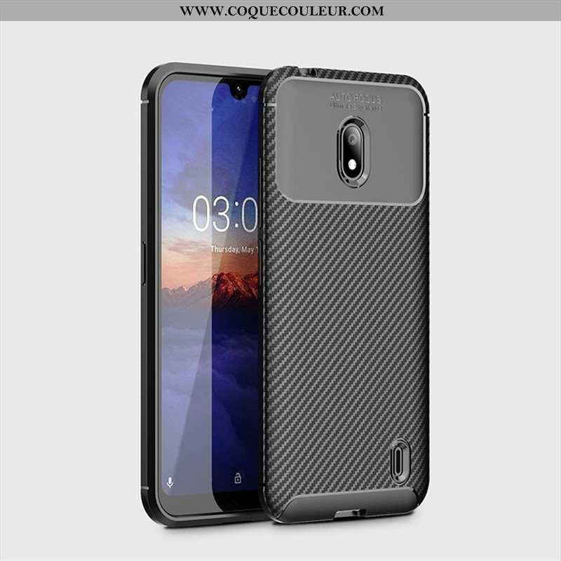 Housse Nokia 2.2 Protection Fluide Doux Noir, Étui Nokia 2.2 Délavé En Daim Coque Noir
