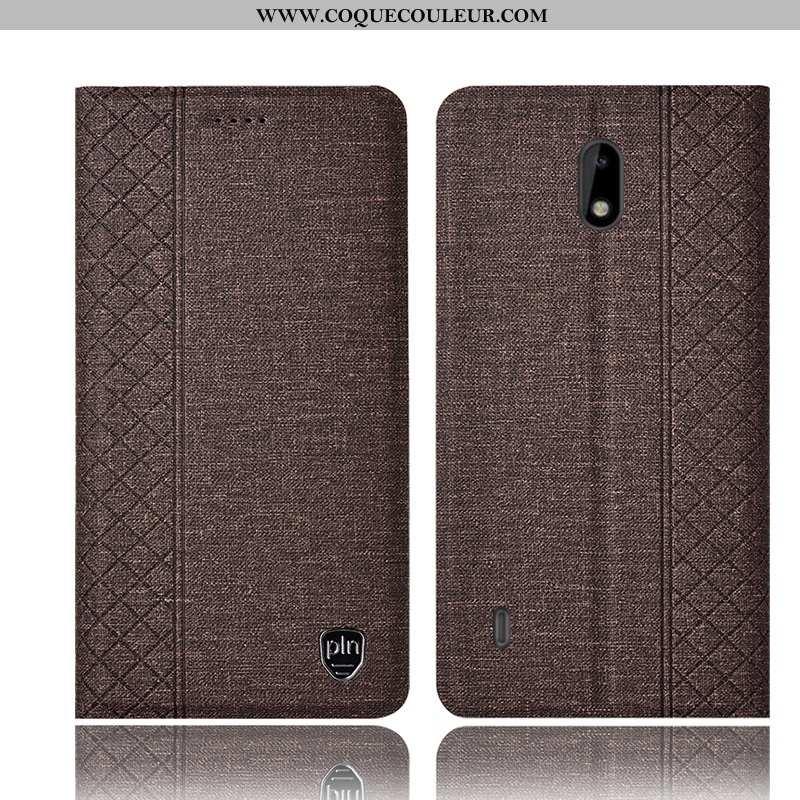 Coque Nokia 2.2 Cuir Tout Compris Marron, Housse Nokia 2.2 Protection Marron